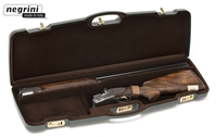 "Negrini 1651L/4725 Green/Brown Series | O/U or SXS -- Barrel up to 31.5"", Med rib Negrini, hard sided gun case, airline approved gun case, shotgun case"