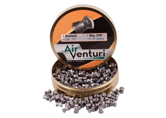 Air Venturi Pellets, .177 Cal, 8.18 Grains, Domed, 250ct domed pellets, 8 grain, air gun ammo