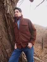 BraeVal Cumberland Over Shirt Cognac Buffalo Nubuck
