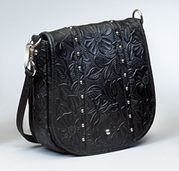 Gun Toten Mamas Concealed-Carry Simple Bling in Tooled Leather conceal carry purse, conceal carry hand bag, Gun Toten Mamas Conceal-Carry Simple Bling, Gun Toten Mamas, Gun Toten Mamas Simple Bling, GTM-16