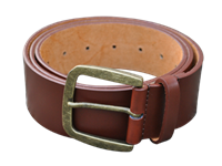 Split Leather Belt -- Brown